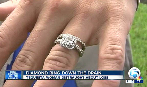 Sewer Worker Saves Engagement Ring From Certain Doom After Bath Mishap