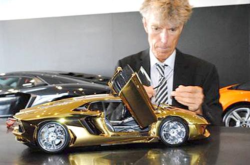 7 5m Scale Model Of Lamborghini Aventador Is Fashioned From A Half