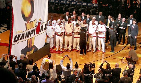 Miami Heat Commemorates Back To Back Nba Championships