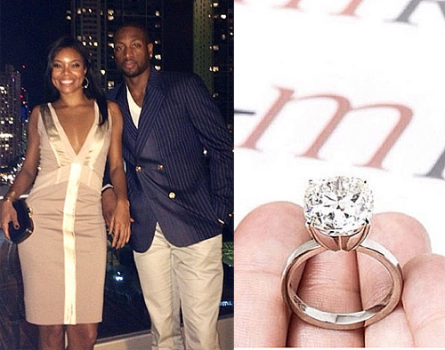 Actress Gabrielle Union and NBA All-Star Dwyane Wade Show Off New