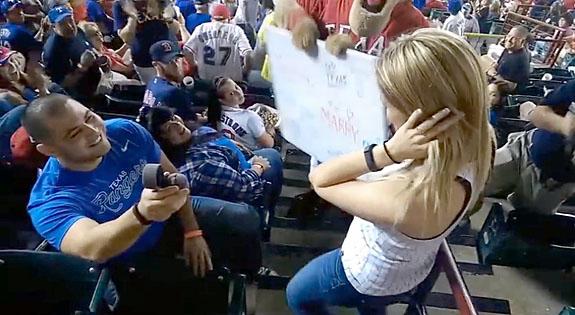 yankee stadium marriage proposal