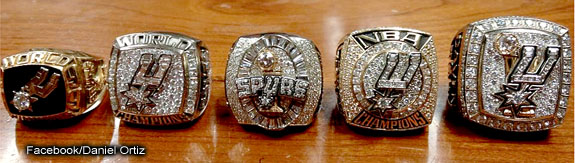 Spurs' Championship Rings Keep Getting Bigger and Better ...  Spurs' Champi...