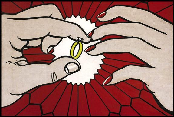 The ring engagement by pop artist roy lichtenstein has 50 million price tag at sotheby s - Pop art roy lichtenstein obras ...