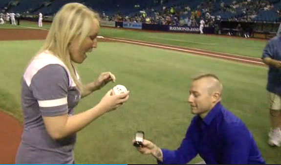 Domestic Violence Survivor Throws Out The First Pitch And Gets