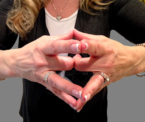Ring finger vein to heart