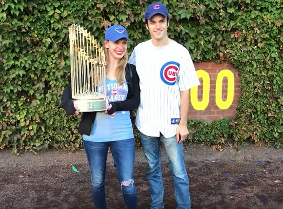 "bbf2143012a It happened on Friday as five million elated Cubs fans from all over the  city celebrated the end of ""The Curse"