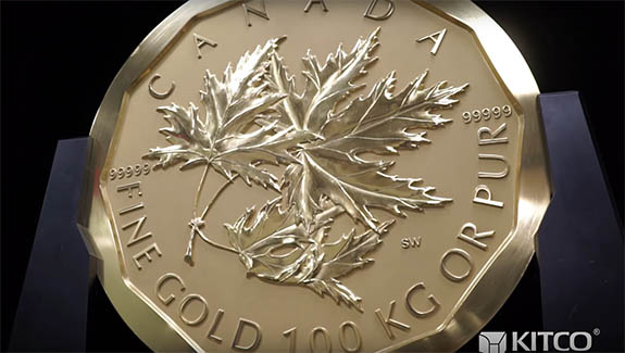 2018 Canadian Maple Leaf Gold Coin 1oz