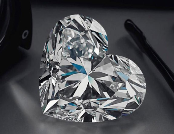 4ed2cc861b966 92-Carat Heart-Shaped 'La Légende' Diamond Sells for $15 Million ...