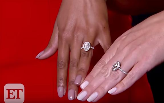 b33cbd8a7 Earlier this week, the couple appeared on Entertainment Tonight, where  Lindsay compared her ring with that of ET's Lauren Zima. They also received  a warm ...