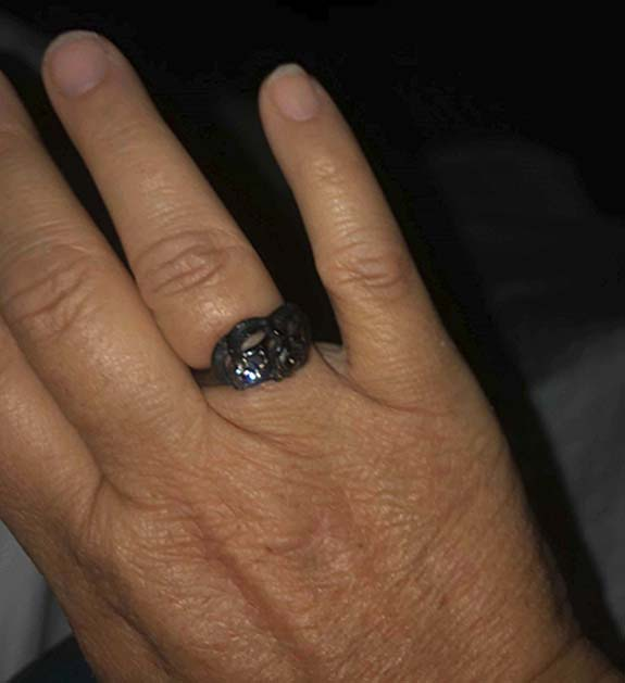 Blackened Wedding Ring Pulled From the Ashes Inspires Wildfire