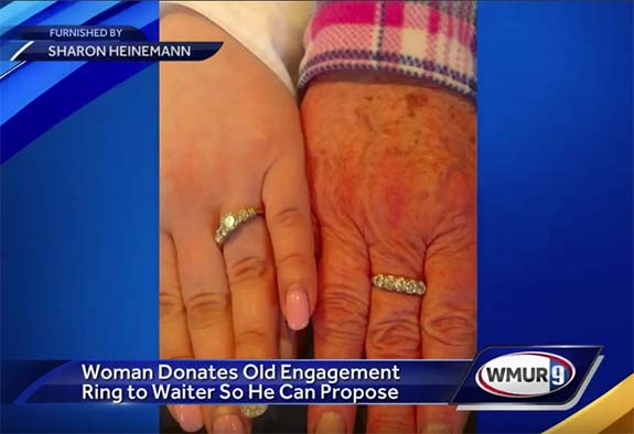N H  Granny Gives Up Her Own Engagement Ring So Young Waiter Can