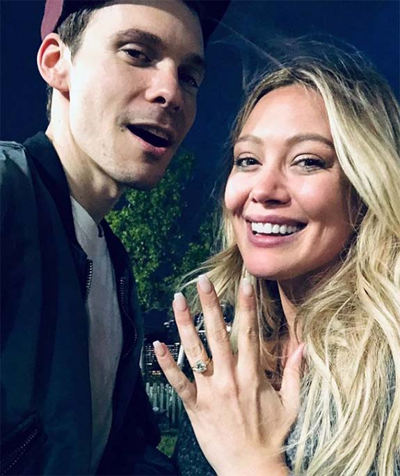 Hilary Duff Shows Off Her New Cushion-Cut Diamond Engagement Ring on