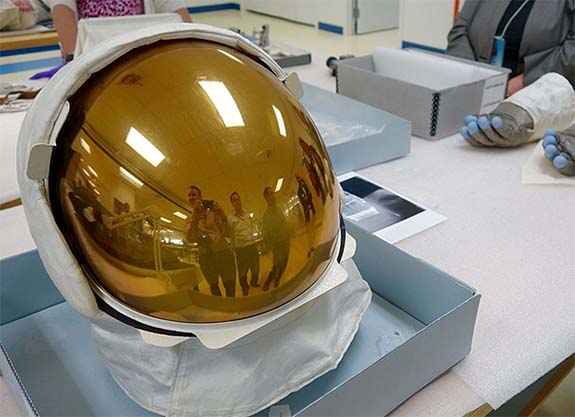 Gold-Coated Visors Protected Apollo 11 Astronauts During First Moon Walk -  Reusch Jewelers: Since 1885