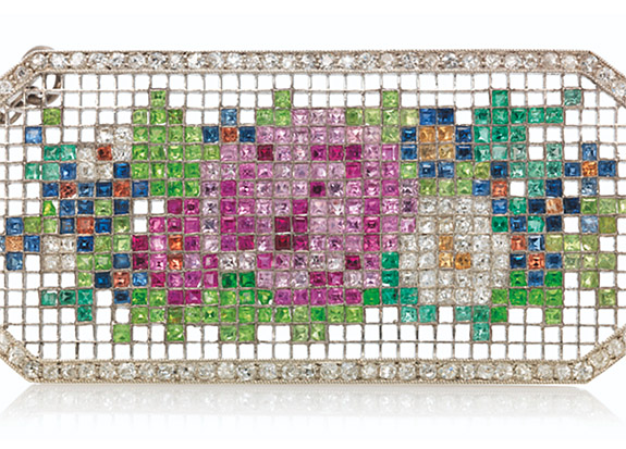 Online Shop Trend Now faberge1 355 Colorful Gems Imitate Embroidered Fabric in Fabergé Brooch From 1913